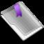 64x64 of Grey Flag Purple