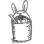 64x64 of recycle bin rabbit full