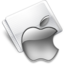 64x64 of Folder Apple gray