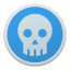 64x64 of Skull blue