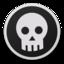 64x64 of Skull bw