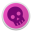 64x64 of Skull magenta