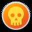 64x64 of Skull orange