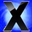 64x64 of X Circle Blu