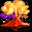 64x64 of volcano