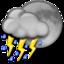 64x64 of Night Thunderstorms
