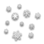 64x64 of Snow Flakes