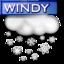 64x64 of Windy Snow