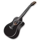 Full Size of Black guitar
