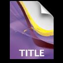 pr document secondary title
