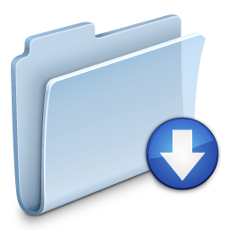 Drop Folder Badged Icon Free Search Download As Png Ico And Icns Iconseeker Com
