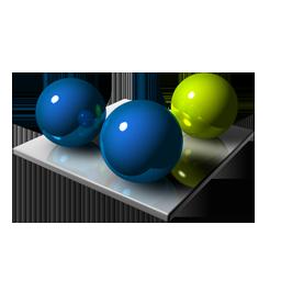 Full Size of Blue Green Spheres
