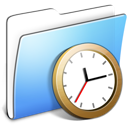 Aqua Smooth Folder Clock