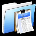 Aqua Stripped Folder Documents