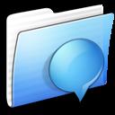 Aqua Stripped Folder iChats