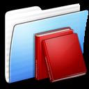 Aqua Stripped Folder Library