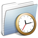 Graphite Stripped Folder Clock