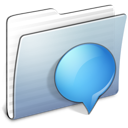 Graphite Stripped Folder iChats