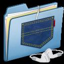 Blue Pocket iPod shuffle