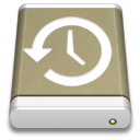 Lightbrown External Drive Backup