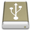 Lightbrown External Drive USB