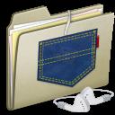Lightbrown Pocket iPod shuffle