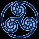 Blue Wheeled Triskelion 1