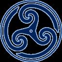 Blue Wheeled Triskelion 2