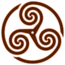 Brown Wheeled Triskelion 1