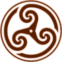 Brown Wheeled Triskelion 2