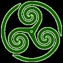 Green Wheeled Triskelion 1