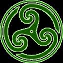 Green Wheeled Triskelion 2