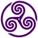 Purple Wheeled Triskelion 1