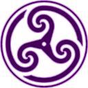 Purple Wheeled Triskelion 2