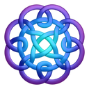 Purpleblue circleknot