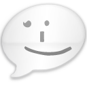 iChat Milk Black Smile