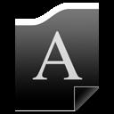 Black Font
