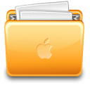 Folder apple with file