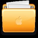 Folder apple with file
