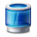 Recycle bin blue