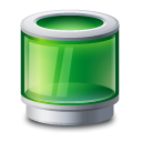 Recycle bin green