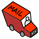 Little Red Mail Truck