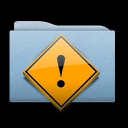 Full Size of Folder Blue Danger
