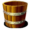 Wooden Bucket Empty