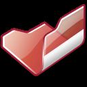 Folder red open