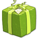 Shiny Green Present