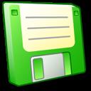 Floppy Disk Green