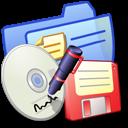 Folder Blue Backups