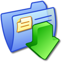 Folder Blue Downloads 3