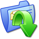 Folder Blue Downloads
